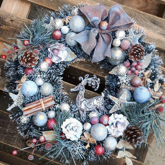 NEW DaliART Mixed Media Christmas Wreath 1st December 2019- AM at The Craft House, Denham - DaliART