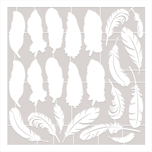 Becky Seddon Designs 'Feathers from Heaven' Laser Cut Sheets x 4 - DaliART