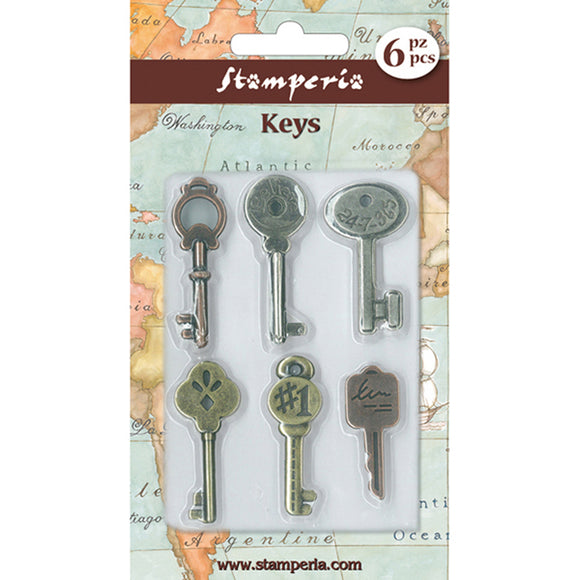 Stamperia Metal Keys with Words Embellishments