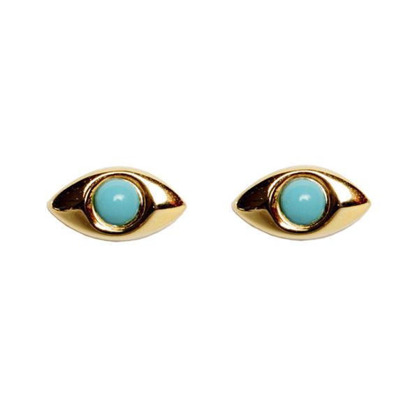 Turquoise Mati Earrings - Bianca Milov Jewelry
