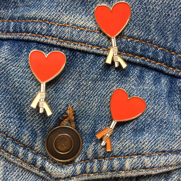 Love is Power Enamel Pin- charity pin