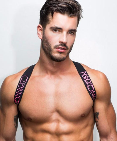 MARCO MARCO ELASTIC CHEST HARNESS (PINK) - The Jock Shop