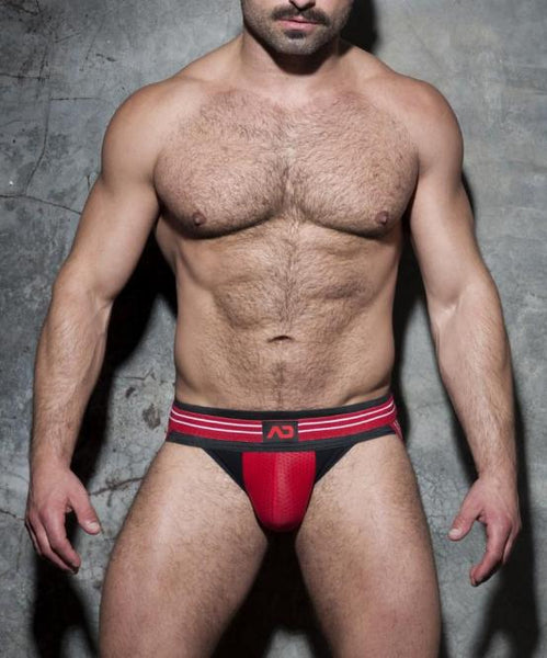 ADDICTED DOUBLE STRIPE JOCKSTRAP (RED) - The Jock Shop
