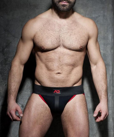 ADDICTED RIB JOCKSTRAP (BLACK/RED) - The Jock Shop