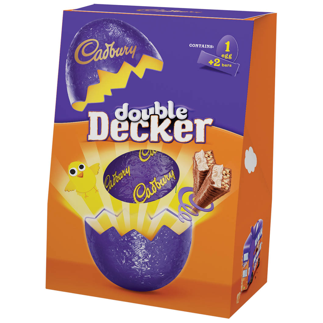 Cadbury Double Decker Large Easter Egg - FRAGILE