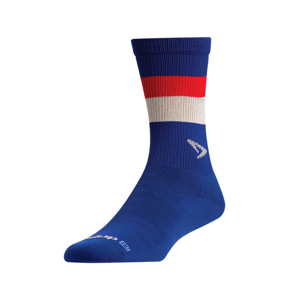 DRYMAX Lite-Mesh Unisex Crew Royal with Red/White Running Socks (DMX-RUN-1104-P)