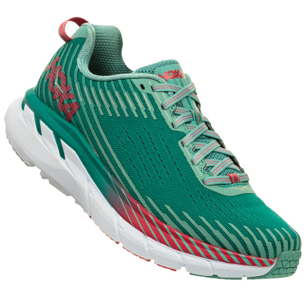 HOKA ONE ONE Women's Clifton 5 Green-Blue Slate Canton Shoe (1093756-GSCN)