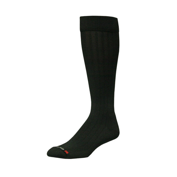 DRYMAX Dress Unisex Over Calf Black Running Socks (DMX-DRS-5004-P)
