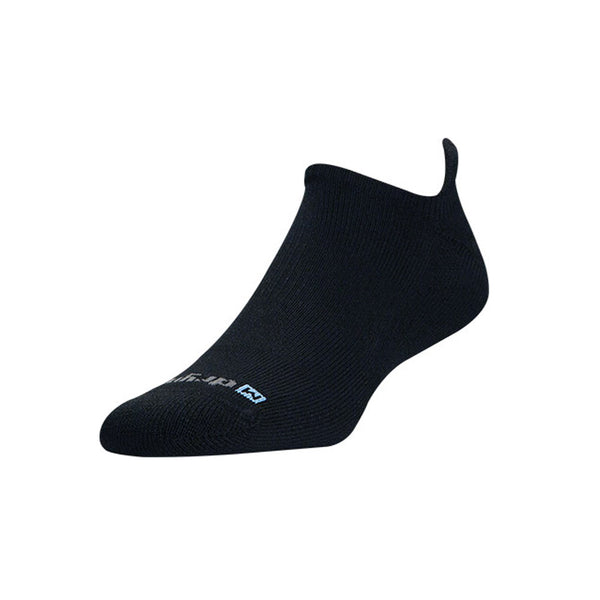 DRYMAX Run Unisex No Show Tab Black Running Socks (DMX-RUN-0752-P)