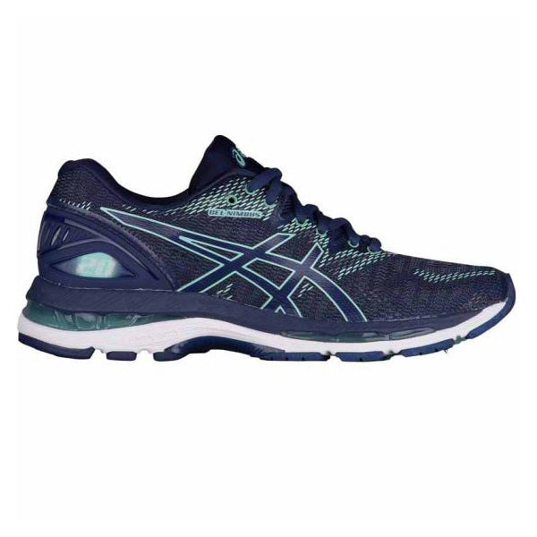 ASICS Womens Gel-Nimbus 20 Indigo Blue/Blue/Green Running Shoes (T850N.4949)