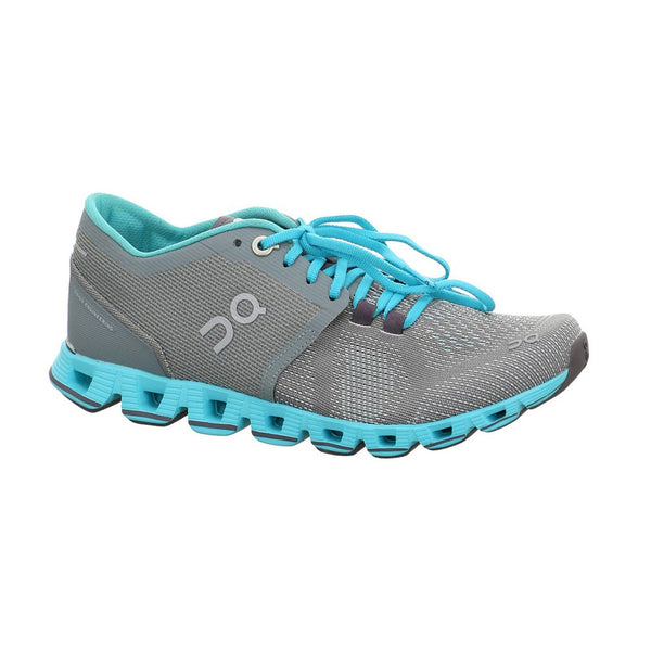 ON FOOTWEAR Womens Cloud X Grey/Atlantis Running Shoe (20.4301)