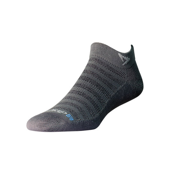 DRYMAX Lite-Mesh Unisex Mini Crew Anthracite Running Socks (DMX-RUN-1092-P)