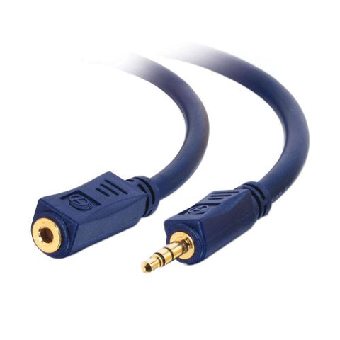 Image of C2G 40606 1.5 Foot 3.5mm Male to Female Audio Extension Cable