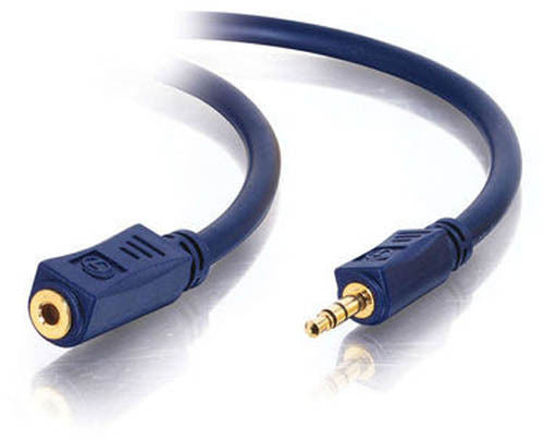 C2G 40606 1.5 Foot 3.5mm Male to Female Audio Extension Cable