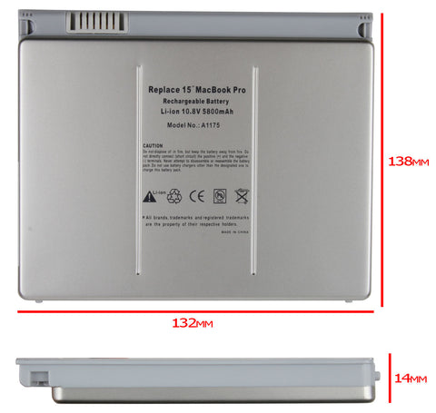 "Battery for 15"" Macbook Pro Laptop - A1150, A1260, A1175"