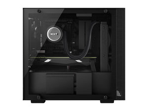 NZXT H200 Mini-ITX PC Gaming Case - Tempered Glass Panel, All-Steel Construction, Water Cooling Ready