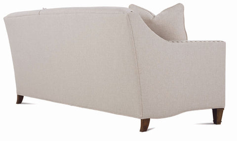 "Austin 75 Inch ""Designer Style"" Tight-Back Fabric Queen Sleeper Sofa With Accent Nails"