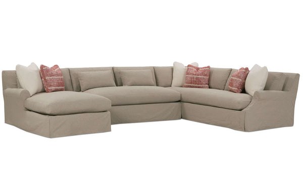 Calista Cloud Comfort Grand Scale Bench Seat Sectional