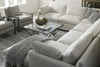 "Image of Faith ""Designer Style"" Bench Seat Track Arm Fabric Sectional"