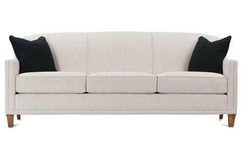 "Leona 75 Inch ""Designer Style"" Tight-Back Fabric Queen Sleeper Sofa"