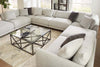 "Image of Zuri ""Designer Style"" Modern Sectional With Seat Level Ottoman"