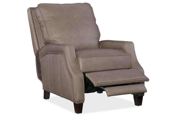 "Chairs And Recliner Norton ""Quick Ship"" Small Scale Leather Recliner"