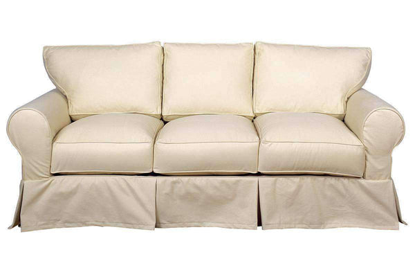 Slipcovered Furniture Dilworth Slipcovered Three Cushion Sofa