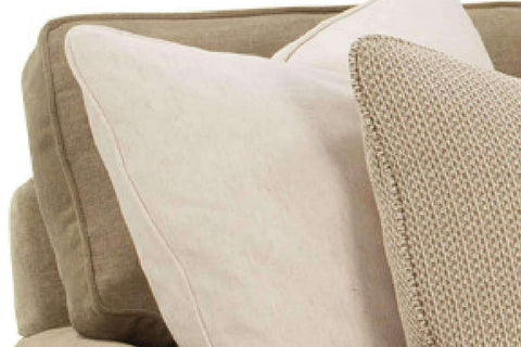 Fabric Furniture Ellie Deep Seat Fabric Pillow Back Queen Sleeper Sofa