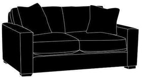 "Fabric Furniture Faye ""Designer Style"" Modern Loveseat"