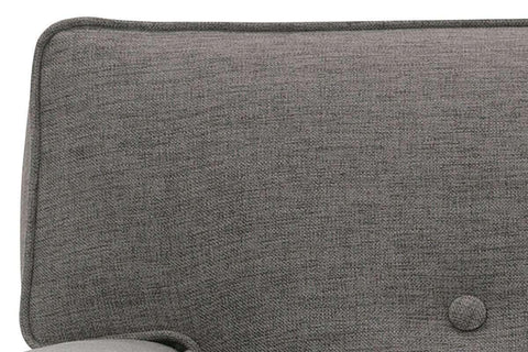 Fabric Furniture Margo Mid Century Modern Button Back Fabric Upholstered Chair