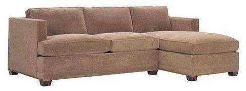 Fabric Sectional Sofa Finley Large Deep Seat Fabric Sectional Chaise Sofa (As Configured)