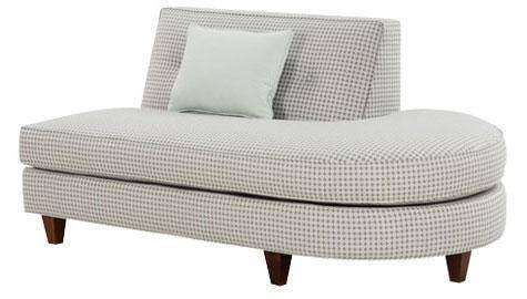 "Fabric Sectional Sofa Margo ""Designer Style"" Right Facing Chaise Bumper"