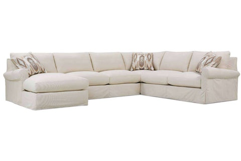 Kaley Ultra Plush Grand Scale Slipcovered Sectional