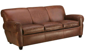 Leather Furniture Parker 3 Cushion Leather Queen Sleeper Like The Manhattan