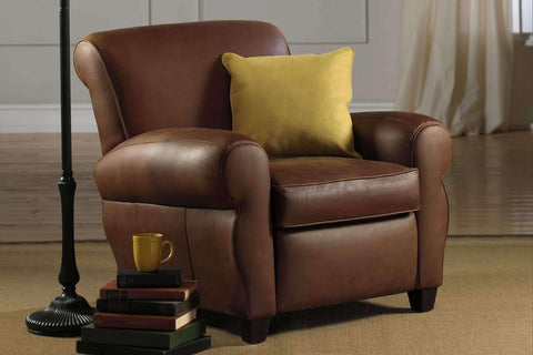 Leather Furniture Parker Leather Club Chair Like Manhattan