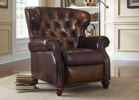 Leather Recliner Arthur Chesterfield Leather Tufted Wingback Recliner Chair