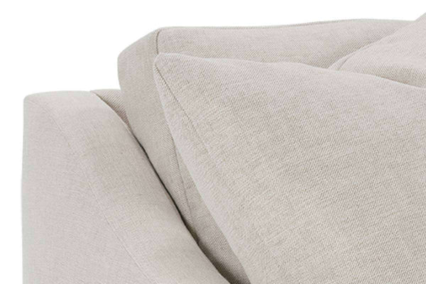 Macy 88 Inch Fabric Upholstered 2 Cushion Or Single Bench Seat Track Arm Sofa