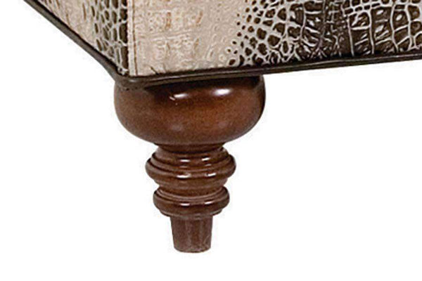 Ottomans & Benches Nelson Leather Button Tufted Storage Ottoman With Hinged Top