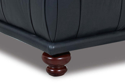 Percy Tufted Coffee Table Leather Ottoman