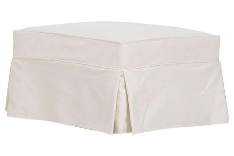 "Slipcovered Furniture Charleston ""Grand Scale"" Slipcover Ottoman"