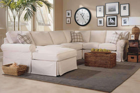 Christine 2 Piece Fabric Slipcovered Sectional (As Configured)