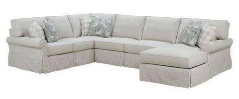 "Slipcovered Sectional Sofa Noreen ""Designer Style"" Casual 3-Piece Deep Seat Slipcovered Sectional (As Configured)"
