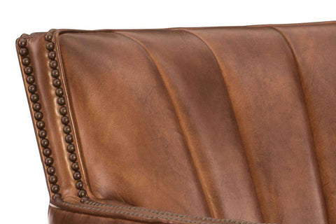"Vander ""Quick Ship"" Leather Swivel Accent Chair"
