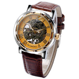 MG.ORKINA Skeleton Mechanical Hand Wind Watches Men - Necklace for Her