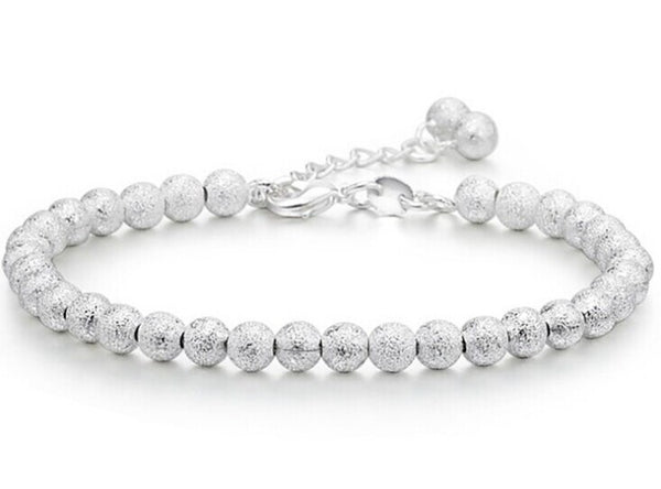 925-BG03 Trend Accessories 925 Pure Silver Bracelet 5MM Beads Bracelet Ball Chain Bracelet for Women Factory Price The Gifts - Necklace for Her