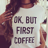 Women t shirt Basic Letter Print Casual Slim Women Tops - Necklace for Her