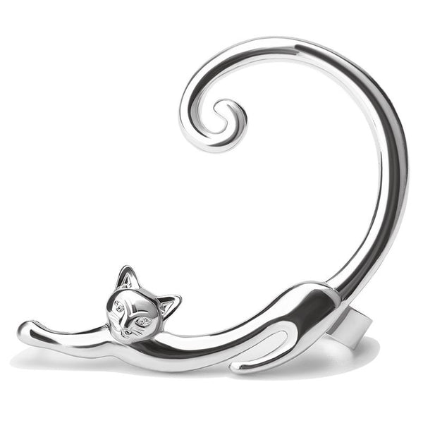 Cute Design Animal Small Cat Shape Women Design Stud Earrings - Necklace for Her