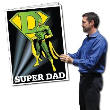 3' Tall Stock Design Giant Super Hero Father's Day Card