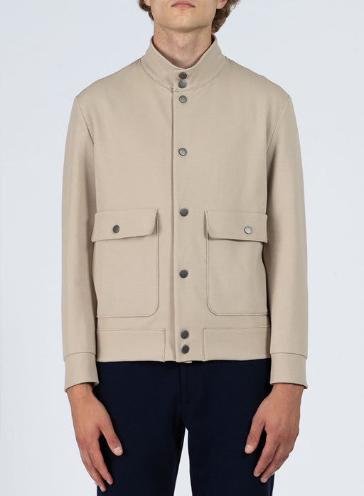 Men bomber with pockets Piquet
