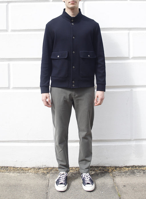Men bomber with pockets Cavalry Twill